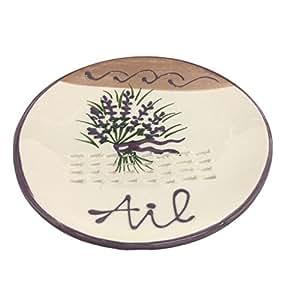 Terre 015301 陶瓷大蒜磨砂板,薰衣草设计