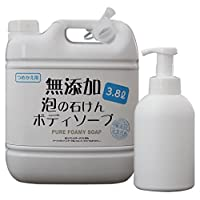 *泡沫的肥皂沐浴露3.8L 带有空瓶 無香料 1個