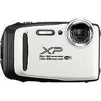 Fujifilm FinePix XP130 防水数码相机,带 16GB SD 卡600019827 底部 2.78x 4.34 1.26 白色