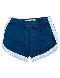 Sol Baby 复古健身短裤 *蓝