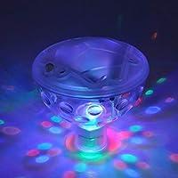 Mocoe 防水游泳池灯,婴儿沐浴灯浴缸(7 种照明模式),池塘,水下灯光秀和水族馆,喷泉,热水桶或派对装饰浮球 蓝色