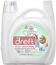 Dreft 阶段2:活性婴儿洗衣液(HE),150盎司(150盎司),96次装
