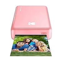 柯达 迷你 2 高清无线便携式移动即时照片打印机兼容 iOS 和 Android 设备 照片打印机 Basic 粉红色