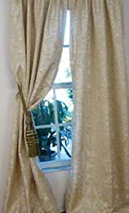 Manor Luxe Sheridan Rod Pocket Curtain Panel, 48 by 84-Inch, Ivory