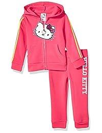 Hello Kitty 女童 2 件套拉链连帽衫和裤子套装