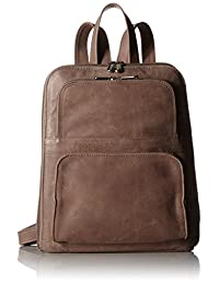 Piel Leather Slim Tablet Backpack with Front Pockets