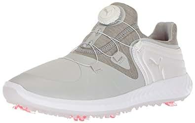 PUMA 女士 Ignite Blaze 运动飞盘高尔夫鞋 灰色紫罗兰色/白色 7.5