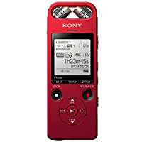 Sony 索尼 ICD-SX2000RCCN Hi-Res 高解析度立体声数码录音棒 三向麦克风 16GB 红色