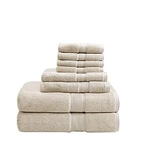 MADISON PARK 标志 800GSM * 棉 8 件毛巾套装 天然 See below MPS73-190