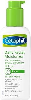 Cetaphil 无香味日用面部保湿霜 SPF 15,4 盎司瓶装 (Pack of 2)