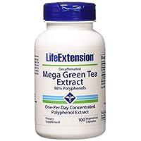 Life extension 綠茶提取物兒茶素膠囊茶多酚,100粒2瓶裝