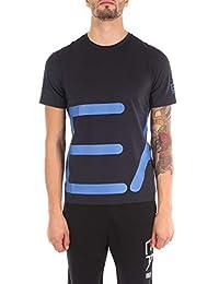EA7EMPORIO ARMANI 主动男式火车徽标系列大 EA7圆领 t 恤