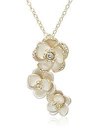 Pure Pearl 三朵纯洁玫瑰项链 PP611101