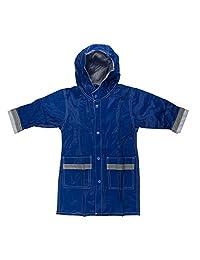Fit Rite 男孩女孩连帽防水长款雨衣全长雨衣,儿童及幼儿防雨夹克,带反光条纹