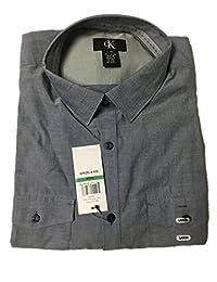Calvin Klein Men's Long Sleeve Plaid Button Down Shirt
