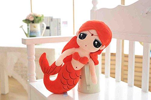 爱萌兔 美人鱼公仔公主布娃娃毛绒玩具抱枕创意玩偶小