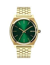 Nixon 男士模拟石英表 不锈钢表链 A0451919-00 Gold/Green 均码