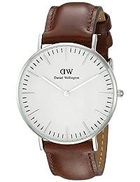 Daniel Wellington 丹尼尔•惠灵顿 瑞典品牌 Classic系列 银色表圈表扣 石英手表 女士腕表 DW00100052(原型号0607DW)