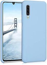 kwmobile 三星 Galaxy A90 (5G) 水晶手机壳 - 柔软弹性 TPU 硅胶保护套 - 透明50365.161_m001432 鸽子蓝