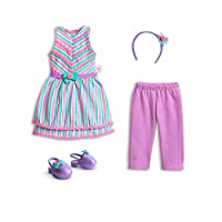 American Girl Welliewishers 丝带和条纹 14.5 英寸玩偶服装,多种颜色