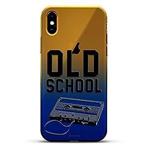 奢华设计师,3D 印花,时尚,高端,高端,Chameleon 变色效果手机壳 iPhone Xs MaxLUX-IMXCRM2B-MUSIC2 Old School Cassette Tape Dusk Blue