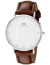 Daniel Wellington 丹尼尔·惠灵顿  Classy 女士石英手表 模拟显示表盘 棕色皮表带 - DW00100079