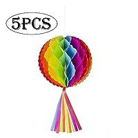 纸蜂窝球适合派对/墙壁背景天花板/婚礼/生日/节日/圣诞节/活动和家居装饰(12 英寸-颜色)