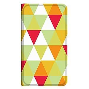 智能手机壳 手册式 对应全部机型 薄型印刷手册 cw-120top 套 手册 几何学图案 超薄 轻量 UV印刷 壳WN-PR277306-MX Qua phone KYV37 B款