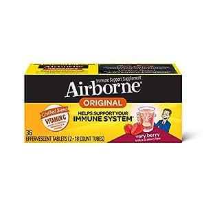 Airborne 浆果口味泡腾片,36片-1000毫克维生素C
