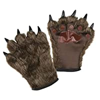 Boland 00829 狼人手套 带毛皮,中性 - 成人,棕色