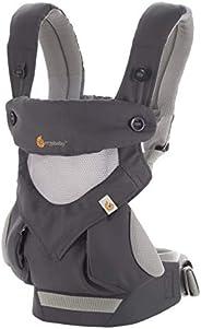 Ergobaby 嬰兒背帶 360 可攜式嬰兒背帶,帶涼風網,碳灰色