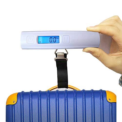 Prointxp普智 电子手提行李秤 快递称手提秤 迷你便携式电子秤 高精度家用秤 行李称重箱包旅游秤 (黑色、白色随机发货功能相同)