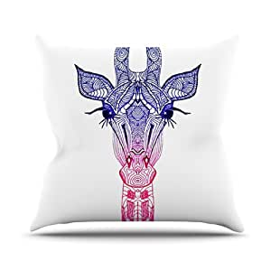 Kess InHouse Monika Strigel 彩虹长颈鹿户外抱枕,50.8 x 50.8 厘米