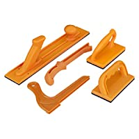 POWERTEC 71009 *推杆和杆套装   5 件装   符合人体工程学的手柄带*大抓地力   推块和杆适用于桌锯、关节和木工作业   适用于木工的*和控制
