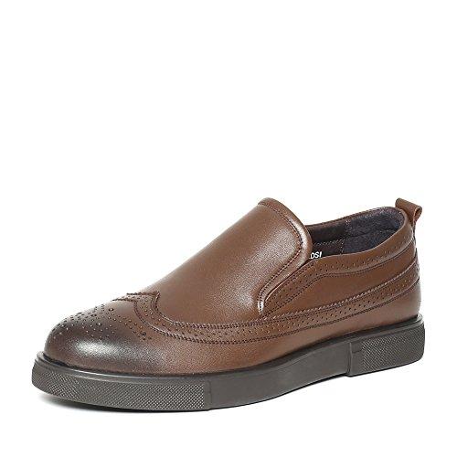 Senda 森达 森达冬季专柜同款打蜡牛皮男鞋 MC102DM6 棕色 43