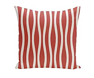 E By Design PHS-N10-Bulb-26 Holiday Brights Striped Pillow, 26-Inch, Bulb