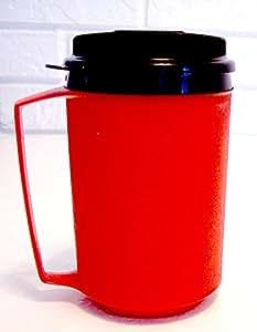340.2gram 泡沫保温 thermoserv 旅行咖啡马克杯 红色 12 盎司