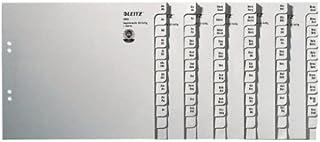 Leitz 利市 13500085 寄存器 A-Z A4 纸张 50 文件夹 灰色