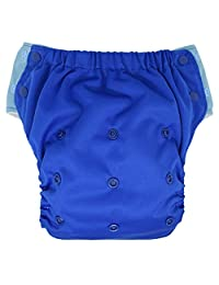 EcoAble Baby 三合一婴儿尿布混合,带口袋和衬垫:日常使用,游泳或如厕训练 蓝色 Size 2/15-35Lb