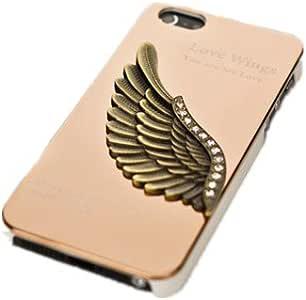 okcsc 欧克塞斯 苹果iphone4/4s手机保护壳套 天使之翼 哈雷鹰 立体金属外壳 金色爱之翼