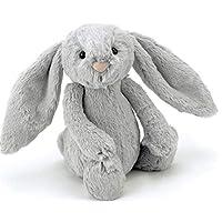 Jellycat 毛绒玩偶 BASHFUL害羞系列之邦尼兔 银灰色中号高31cm