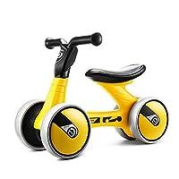 FERSOAR F 烽索 LUDDY系列 儿童平衡车1-3岁三轮滑行学步车溜溜车 LD-1006-B 黄色(亚马逊自营商品, 由供应商配送)