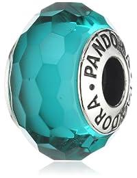 Pandora 潘多拉 纯银多面挂坠 湖蓝色 女款 791606(丹麦品牌)
