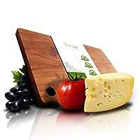 VLumber 柚木砧板 - *好的木材砧板。手工制作且易于维护的柚木砧板。大型木砧板适用于肉类、奶酪等 - 美国制造16 x 10 x 0.75 英寸(约 40.6 x 25.4 x 1.9 厘米)