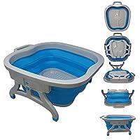 大号*浸泡浴盆,脚桶,*浴,足浴,足浴,适用于 Home Spa 修脚。 塑料/橡胶可折叠桶,用于浸泡脚,用于去除马蹄部,或使用浮石