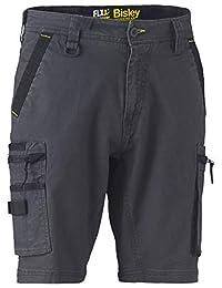 Bisley Workwear Flex & Move UKBSHC1330_BCCG 工装裤,有弹性,带拉链,煤黑色 煤灰色 28 UKBSHC1330_BCCG