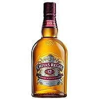 Chivas Regal 芝华士 12年苏格兰威士忌 500ml(英国进口)(亚马逊自营商品, 由供应商配送)