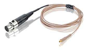 Countryman E6CABLET1MI  Aramid-Reinforced E6 Series Earset Snap-On Cable for MIPRO/Peavey/Beyer Transmitters (Tan)