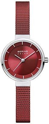 BERING 女士模擬太陽能手表帶不銹鋼表鏈14627-303