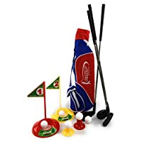 Matty's Toy Stop 15 件豪华玩具高尔夫套装,带球袋